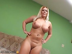 Big Boobs, Blonde, Facial, Interracial
