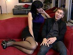 Brunette, Stockings, Wife, Mature